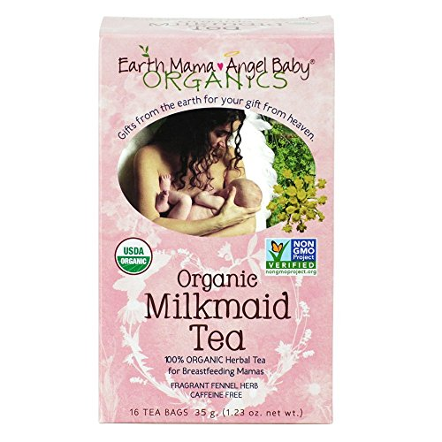 Earth Mama Angel Baby Organic Milkmaid Nursing Tea, 16 Count (Earth Mama Milkmaid Tea)