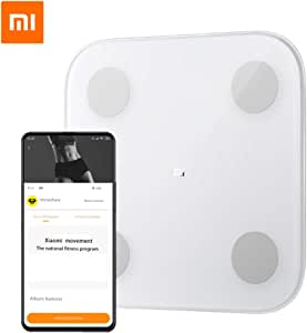 Original Xiaomi Mi Smart Bluetooth Body Fat Scale with Upgraded App, High Precision Bathroom Scales Digital Weight and Body Fat Body Composition Monitor, 330lb/150kg, White