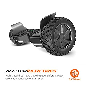 EPIKGO Self Balancing Scooter Hover Self-Balance Board – UL2272 Certified, All-Terrain 8.5 Alloy Wheel, 400W Dual-Motor, LG Battery, Board Hover Tough Road Condition Classic Series, Space Grey