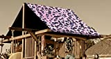 Custom Sized Pink/Purple Cheetah Replacement Tarp  Canopy for Playset: Up to 60 Sq Ft Tarp Size