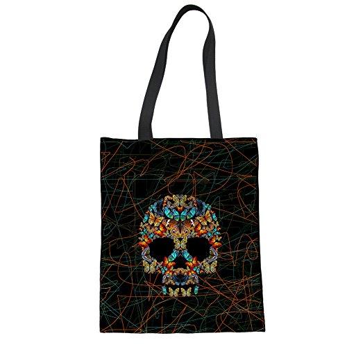 Showudesigns CC1948Z22, Borsa a mano donna Multicoloured Taglia unica skull 8