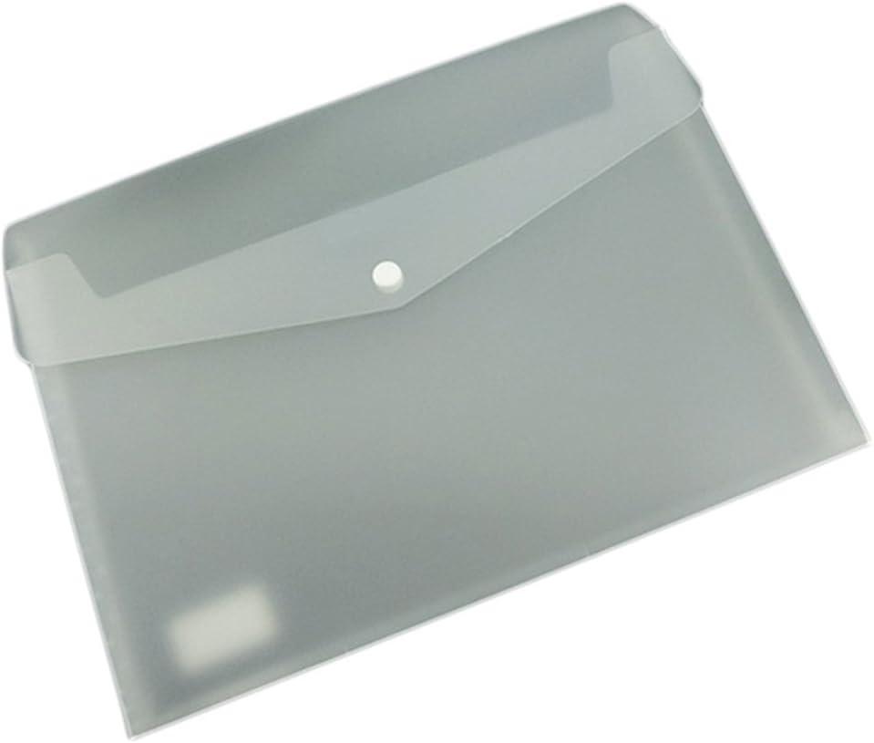 Cosanter Carpeta portafolios A4 de Espesamiento Plástico con Botón Color Blanco: Amazon.es: Oficina y papelería
