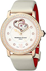 Frederique Constant Women's FC310WHF2PD4 Double Heart Analog Display Swiss Automatic White Watch