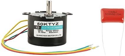 1PCS AC220V 5-50RPM Motor sincrónico de par de fuerza grande de baja velocidad en miniatura CW/CCW(50rpm)