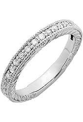 0.25 Carat (ctw) 14k White Gold Round Diamond Ladies Anniversary Wedding Ring Band Stackable 1/4 CT