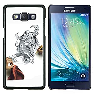Queen Pattern - FOR Samsung Galaxy A5 A5000 A5009 - cool draw sketch bull Taurus fierce fight matador - Cubierta del caso de impacto con el patr???¡¯???€????€?&Ati