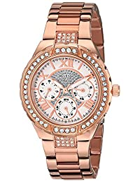 GUESS Women's U0111L3 Sparkling Rose Gold-Tone Bracelet Watch