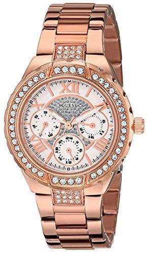 GUESS Women's U0111L3 Sparkling Hi-Energy Mid-Size Rose Gold-Tone Watch (Guess Watch Women Rose Gold)