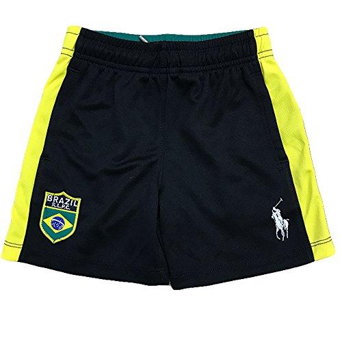 Polo Ralph Lauren Boy's Athletic Soccer Shorts (2T Toddler, Brazil - Ralph Brazil Lauren