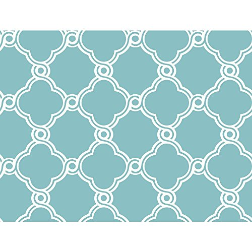 Blue WB5507 Open Trellis Wallpaper