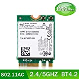 Authentic Intel Dual Band Wireless-AC 7265NGW 2nd Gen Intel 802.11ac, 2x2, Bluetooth 4.2 Mini PCI-E WiFi Card for Notebook/Laptop, Compatible with Windows 10 8.1 7