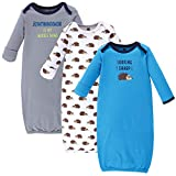 Hudson Baby Unisex Cotton Gowns, Hedgehog, 0-6 Months