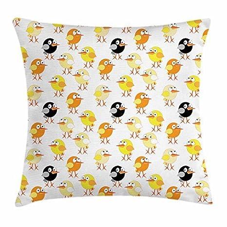 Pájaros manta almohada cojín, para niños de dibujos animados ...