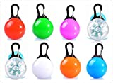 TLT LED Clip-on Safety Light Colorful Collar Light Keychain Light LED027, Pack of 8, Assorted Colors