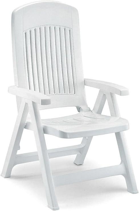 Dos sillones en resina, sillones plegables de jardín, sillón de plástico ajustable: Amazon.es: Hogar
