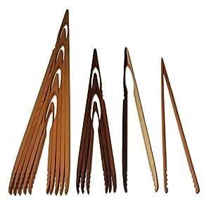 Pinzas de madera profesionales que sirven como accesorio de barbacoa o cubertería para la barbacoa, desde extra largo hasta pequeño y corto, 32cm, 46cm, 60cm, 74cm, 88cm de haya, nogal o arce, pinzas de cocina, utensilio auxiliar para cocinar, fabricado en Alemania
