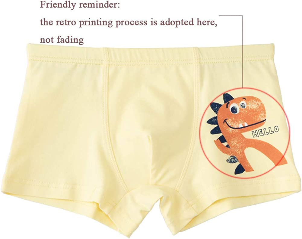wndeon Boys Boxer Briefs Kids Cotton Underwear Breathable Panties for Boy