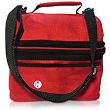 "WARM AND TOTE THERMAL INSULATED HOT OR COLD ""Red PERFECTA"" HEATED LUNCH BOX BAG TO KEEP LUNCH FOOD WARM"