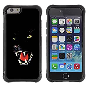 SHIMIN CAO@ Fierce Black Panther Jaguar Cat Rugged Hybrid Armor Slim Protection Case Cover Shell For iPhone 6 Plus CASE Cover ,iphone 6 5.5 case,iPhone 6 Plus cover ,Cases for iPhone 6 Plus 5.5