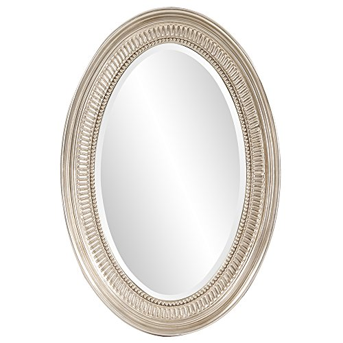 Howard Elliott Ethan Oval Hanging Wall Or Vanity Mirror, 21 x 31 - Transitional Bathroom Decorative Mirrors
