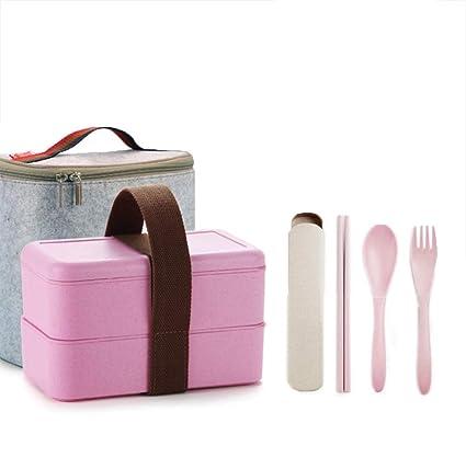 3ac1b06d4c45 Amazon.com: Worthbuy Leakproof Bento Lunch Box: Kitchen & Dining