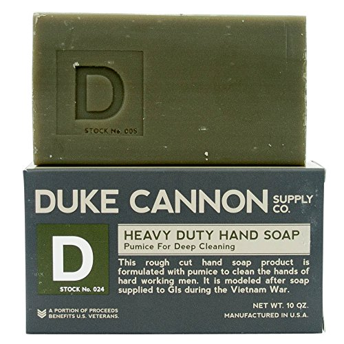 Duke Cannon Supply Co. Heavy Duty Hand Soap, 10 Ounce, Pumice For Deep Cleaning - Early American Soap