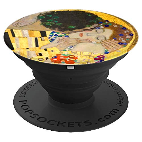 The Kiss Gustav Klimt Vintage Fine Art - PopSockets Grip and Stand for Phones and Tablets