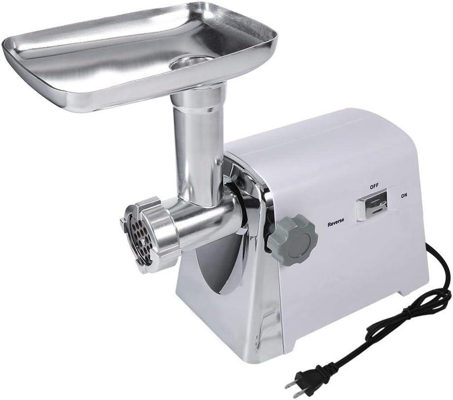 Máquina para picar carne, máquina para hacer salchichas picadora de carne industrial eléctrica 1600W con 3 cuchillas de corte