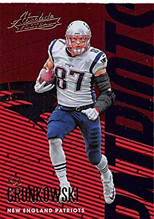 2018 Absolute Football  65 Rob Gronkowski New England Patriots Official NFL  Trading Card made by 1caf82b27