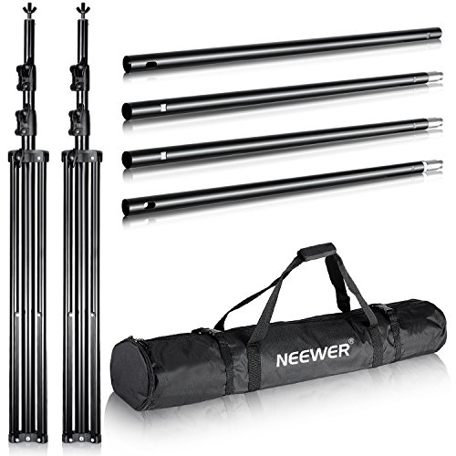 - Neewer Pro 10x12 feet/3x3.6 Meters Heavy Duty Adjustable Backdrop Support System Photography Studio Video Stand with Carrying Bag for Backdrop Background
