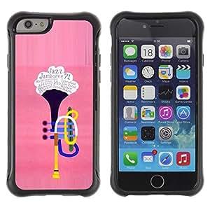 Suave TPU Caso Carcasa de Caucho Funda para Apple Iphone 6 / The trumpet / STRONG