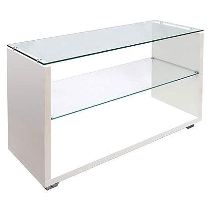 Warmiehomy 3 Tier Glass Shelving Display Unit Modern ...