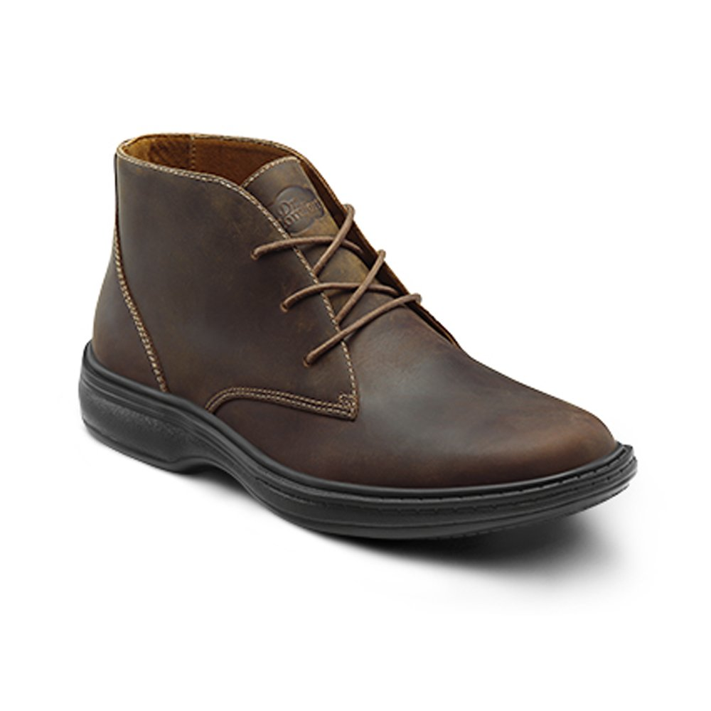 Comfort Ruk Mens Therapeutic Diabetic Extra Boot Leather Lace-up Dr