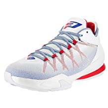 Jordan Nike Men's CP3.VIII AE Basketball Shoe-Black/Hyper Crimson/Electric Green