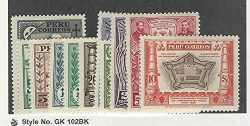 Peru, Postage Stamp, 341-351 Mint LH, 1936, JFZ