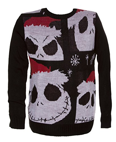 Mens Jack Skellington Christmas Sweater X Large At Amazon Mens