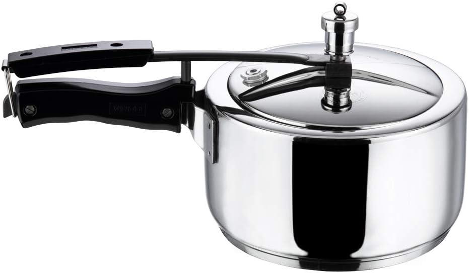 Vinod 3.5L Stainless Steel Inner Lid Sandwich Bottom Pressure Cooker, 3.5-Liter