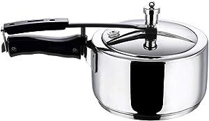 Vinod 5.5L Stainless Steel Inner Lid Sandwich Bottom Pressure Cooker, 5.5-Liter