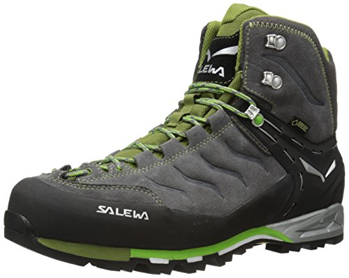 Salewa Men's Mountain Trainer Mid GTX, Pewter/Emerald, 7 D(M) US