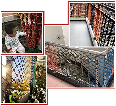 SunYaZhou Netten Kindertrappen Balkonbescherming Netto Bouwveiligheid Netto Anti-val Netto Isolatie Anti-kat Netto Klimmen Netto Touw Kleur Buiten Binnen