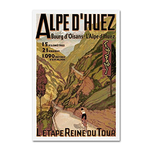 Travel 255 by Vintage Lavoie, 16x24-Inch Canvas Wall (Bicycle Advertisement Poster)
