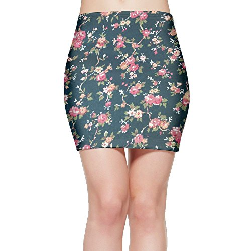 Flower Match Garden Patch (Tightslady Lady Sexy Tights Mini Skirt Dress Floral Coral Pink Rose Flower Garden)