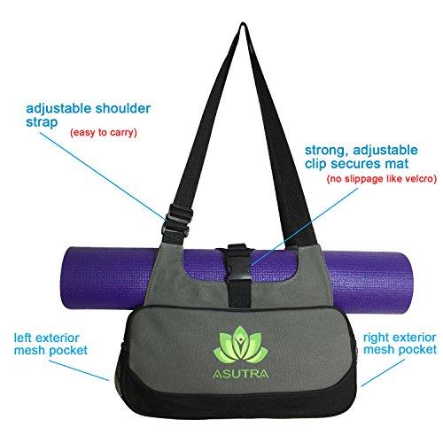 ASUTRA Compact Yoga Mat Bag With Organic Yoga Mat Cleaner