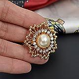 Estony Large Flower Star Scarf Buckle Brooch Clips Pin For Women
