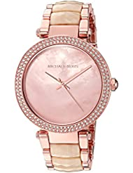 Michael Kors Womens Quartz Stainless Steel Casual Watch, Color:Rose Gold-Toned (Model: MK6492)