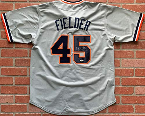 - Cecil Fielder autographed signed jersey MLB Detroit Tigers JSA w/COA