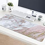 LL-COEUR Marble Gaming Mouse Pad Computer Keyboard Mat Office Desk Pad (15, 780 x 300 x 3 mm)