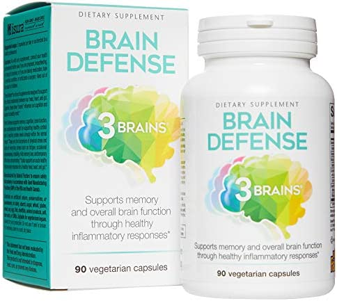 3 Brains by Natural Factors, Brain Defense, Supports Memory and Brain Function, Dietary Supplement, Vegetarian, 90 Capsules 30 Servings