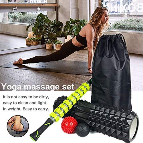 Lianle Foam Shaft Fascia Ball Massage Relaxing Roller Yoga Kits Yoga Column Massage Stick Combination Set - Concave Column