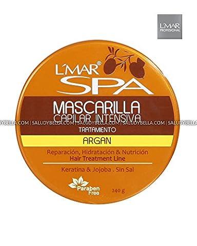 L'Mar Spa Argan Oil Mask Profesional Hair Care | Mascarilla con Aceite Argan para Cabello Cuidado Prosesional (Como Repara)